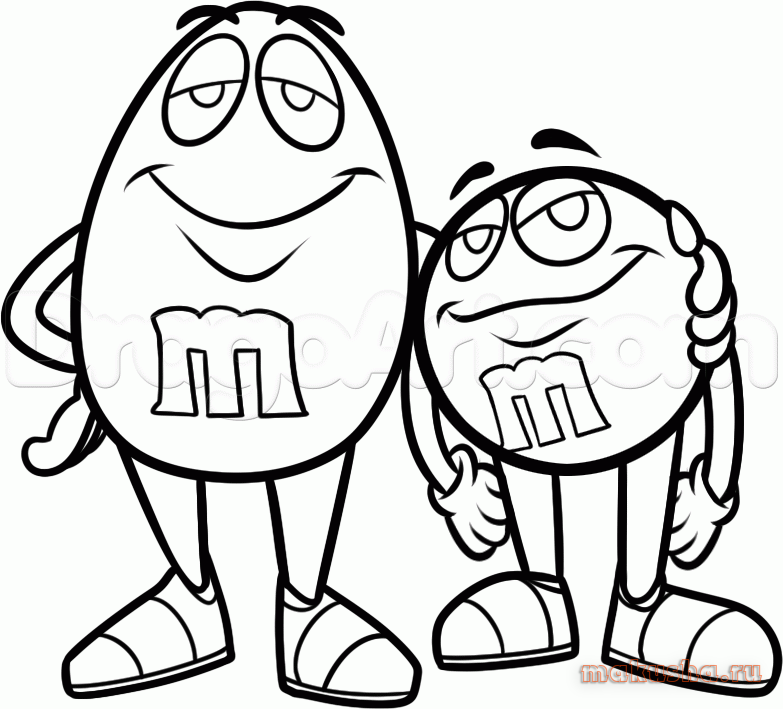 m and m coloring pages - photo #31